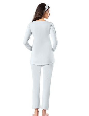 Şahinler - Şahinler Schlafanzug Set für Schwangere mit Hausschuhe Geschenk MBP23726-2 (1)