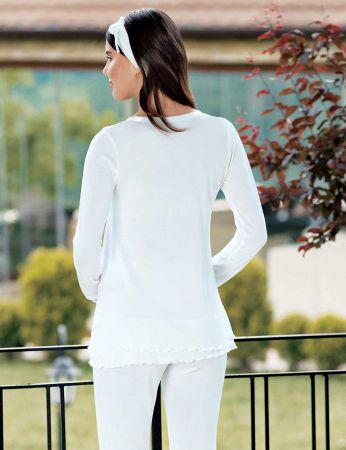Şahinler - Şahinler Schlafanzug Set für Schwangere mit Hausschuhe Geschenk MBP23730-1 (1)