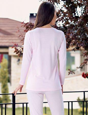 Şahinler - Şahinler Schlafanzug Set für Schwangere mit Hausschuhe Geschenk MBP23734-1 (1)