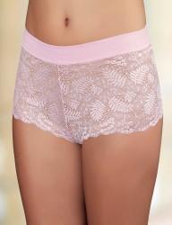 Sahinler Short-Slip Bund mit Lycra Poly Spitze rosa MB3014 - Thumbnail