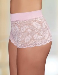 Şahinler - Sahinler Short-Slip Bund mit Lycra Poly Spitze rosa MB3014 (1)