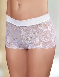 Sahinler Short-Slip Bund mit Lycra Poly Spitze weiß MB3014 - Thumbnail