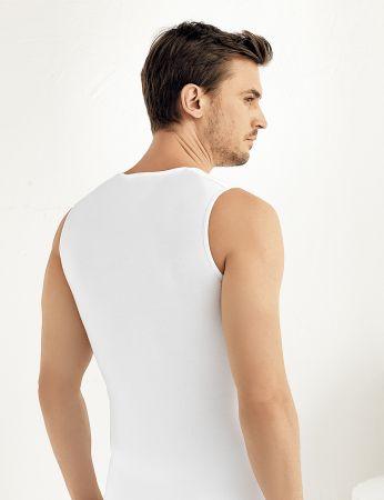 Şahinler - Şahinler Sıfır Kollu Likralı Süprem Atlet Beyaz ME076 (1)