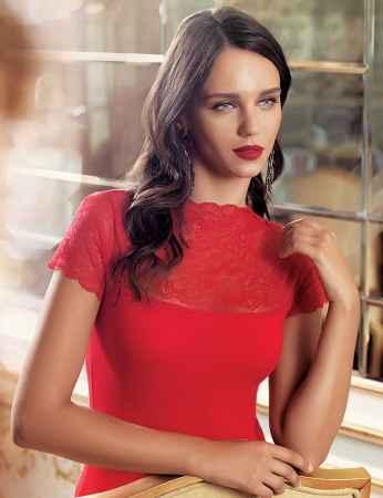 Şahinler - Sahinler Singlet Lace Ropa & Sleeves Red MB624