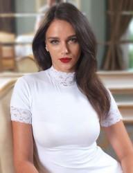 Şahinler - Sahinler Singlet Lace Short Sleeve Turtleneck White MB628