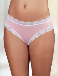 Şahinler - Sahinler Slip Bund, Beinausschnitt und Netz mit Spitze rosa MB3010