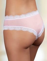 Şahinler - Sahinler Slip Bund, Beinausschnitt und Netz mit Spitze rosa MB3010 (1)