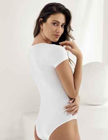 Şahinler - Sahinler Snap Body Suit Crew Neck Short Sleeve White MB860 (1)