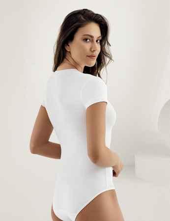 Şahinler - Sahinler Snap Bodysuit Turtleneck Short Sleeve White MB248 (1)