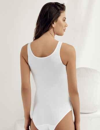 Şahinler - Sahinler Snap Bodysuit U Neck Strapped White MB880 (1)