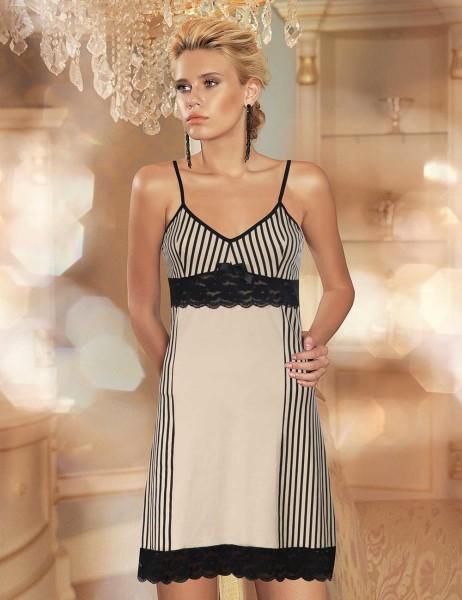 Şahinler - Şahinler Strap Nightgown Cream MB482-KR
