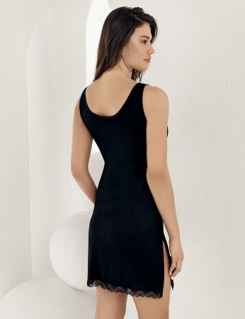 Şahinler - Sahinler Strap Nightgown Mini Black MB1020 (1)
