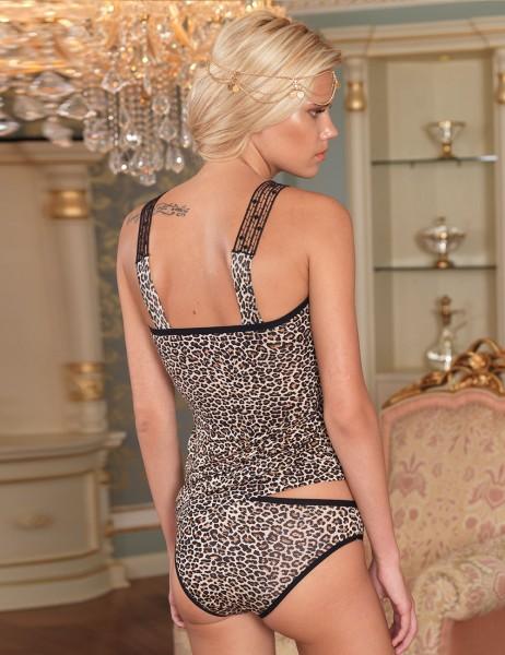Şahinler - Sahinler Strapless Singlet & Brief Set Leopard Patterned MB167 (1)
