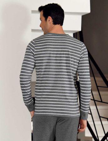 Şahinler - Şahinler Stripe Men Pajama Set MEP23804-1 (1)