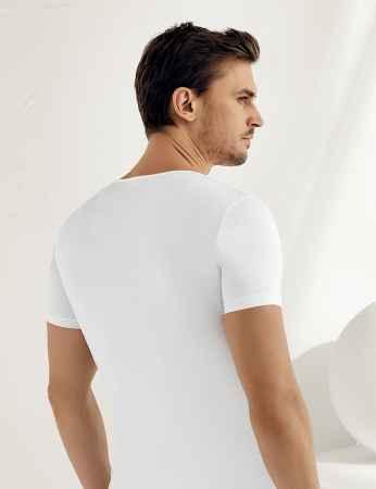 Şahinler - Sahinler Supreme Elastan Unterhemd mit kurzen Ärmeln weiß ME068 (1)