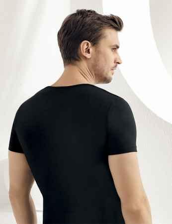 Şahinler - Sahinler Supreme Elastane Unterhemd mit kurzen Ärmeln schwarz ME069 (1)