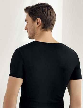 Şahinler - Sahinler Supreme Elastane Unterhemd mit kurzen Ärmeln schwarz ME085 (1)