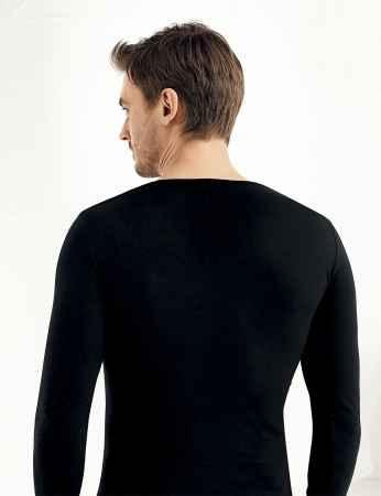 Şahinler - Sahinler Supreme Elastane Unterhemd mit langen Ärmeln und V-Ausschnitt schwarz ME075 (1)