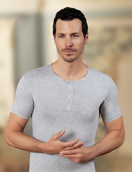 Şahinler - Sahinler Supreme Elastane Unterhemd mit rundem Ausschnitt grau ME087