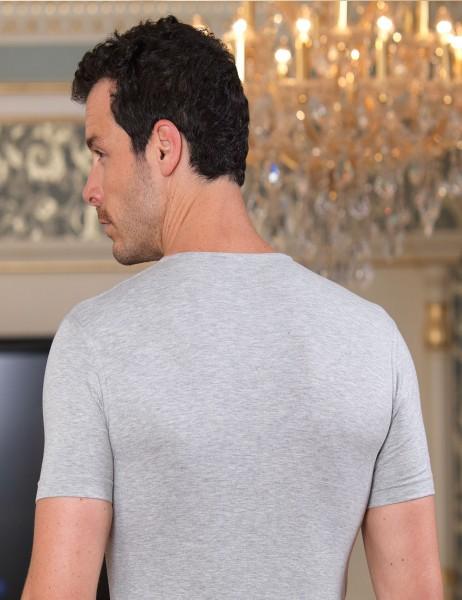 Şahinler - Sahinler Supreme Elastane Unterhemd mit rundem Ausschnitt grau ME087 (1)