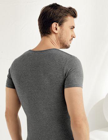 Şahinler - Sahinler Supreme Elastane Unterhemd mit rundem Ausschnitt und kurzen Ärmeln ME069 (1)