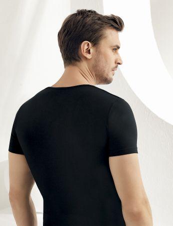 Sahinler Supreme Lycra Singlet Short Sleeve Black ME069