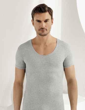 Sahinler Supreme Lycra Singlet Short Sleeve Grey ME088 - Thumbnail