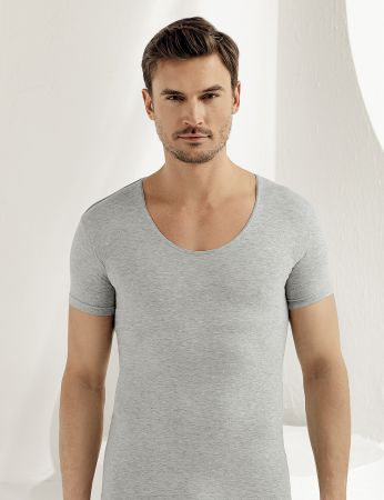 Sahinler Supreme Lycra Singlet Short Sleeve Grey ME088