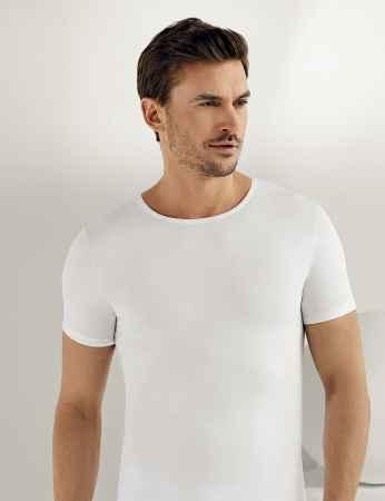 Sahinler Supreme Lycra Singlet Short Sleeve White ME068 - Thumbnail