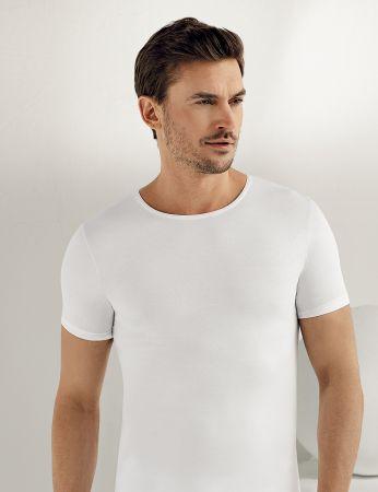 Sahinler Supreme Lycra Singlet Short Sleeve White ME068