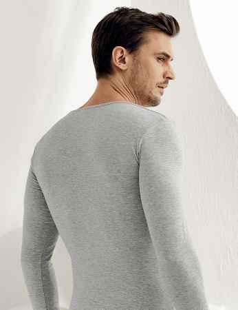 Şahinler - Sahinler Supreme Lycra Singlet V Neck Long Sleeve Grey ME075 (1)