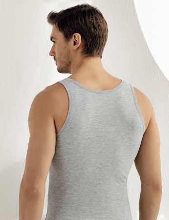 Sahinler Supreme Lycra Unterhemd mit breiten Trägern grau ME067