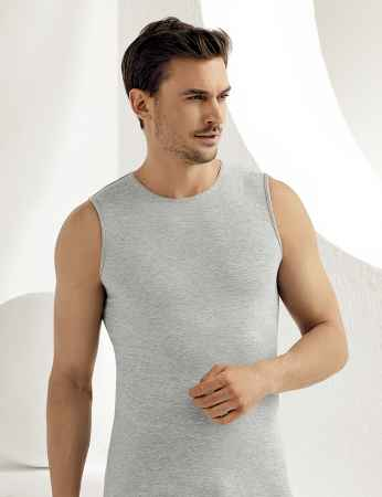Sahinler Supreme Lycra Unterhemd ohne Ärmel grau ME077 - Thumbnail