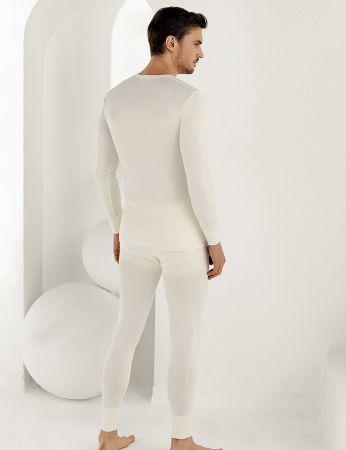 Şahinler - Sahinler Thermal-Unterhemd für Herren lang Cremefarben ME092 (1)