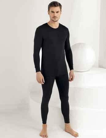 Sahinler Thermal-Unterhemd für Herren lang schwarz ME092 - Thumbnail
