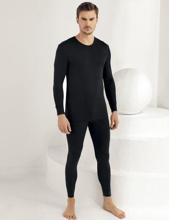 Sahinler Thermal-Unterhemd für Herren lang schwarz ME092