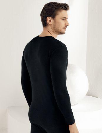 Şahinler - Sahinler Thermal-Unterhemd langärmelig mit runden Ausschnitt schwarz ME093 (1)