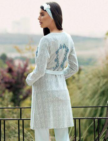 Şahinler - Şahinler Üçlü Lohusa Pijama Takımı Mavi MBP23727-2 (1)