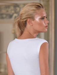 Şahinler - MB204 فانلة بيضاء حمالة عريضة بها دانتيل (1)