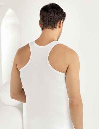 Şahinler - ME030 فانلة بيضاء رياضية حمالات عريضة (1)