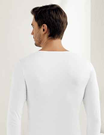 Şahinler - ME070 فانلة بيضاء ليكرا بكم طويل (1)