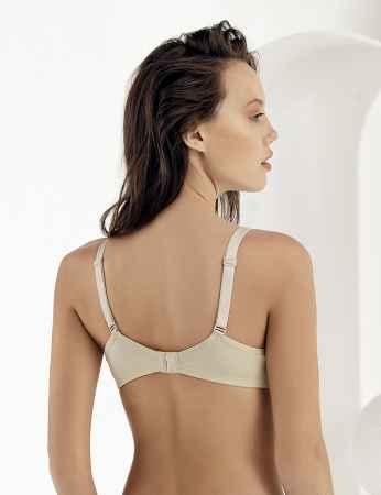 Sahinler Underwire Coverage Breastfeeding Bra Beige M9500 - Thumbnail