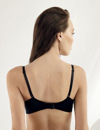 Sahinler Underwire Lace Push-up Bra Black M9050