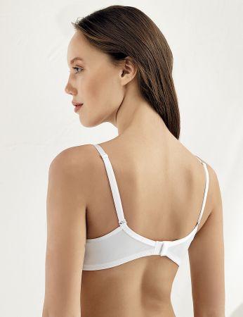 Sahinler Underwire Lace Push-up Bra White M9050