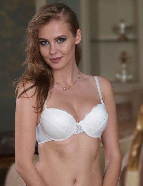 Sahinler Underwire Non Push-up Bra Lace Ecru M9650