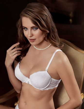 Şahinler - Sahinler Underwire Non Push-up Lace Bra White M9750