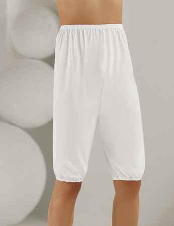 Sahinler Unterhemd für Damen mit Saum aus Baumwolle weiß MB002 - Thumbnail