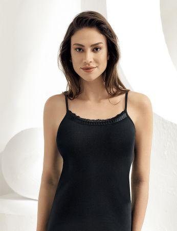 Sahinler Unterhemd mit Spagetti-Trägern schwarz MB612