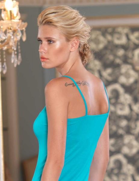 Şahinler - Sahinler Unterhemd Taille und Brust mit Spitzeneinsatz und Slip im Set blau MB2008 (1)