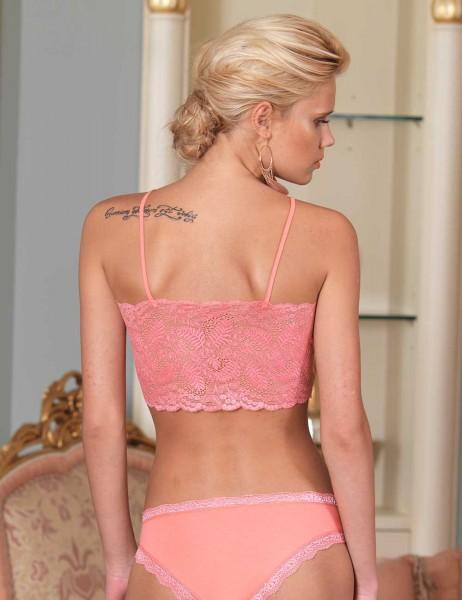 Şahinler - Sahinler Unterhemd und Slip Set mit Spitze hell rosa MB2002 (1)